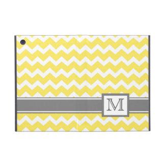 iPad Mini Custom Monogram Grey Yellow Chevrons Cases For iPad Mini
