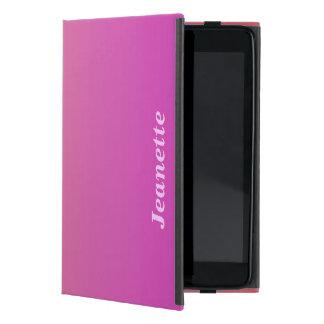 iPad Mini Folio Case, Hot Pink to Peach Fade Case For iPad Mini