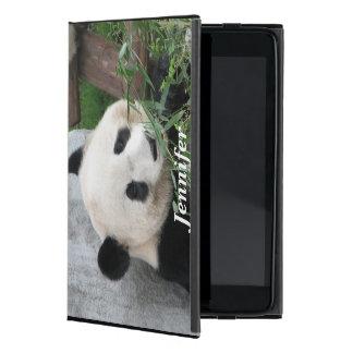 iPad Mini Folio Case, Panda, Black iPad Mini Cover