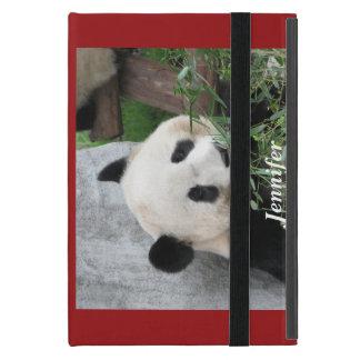 iPad Mini Folio Case, Panda, Red Cover For iPad Mini