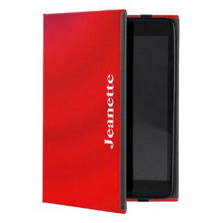 iPad Mini Folio Case, Red Gradient Cover For iPad Mini