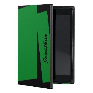 iPad Mini Folio Case Triple Stripe of Color, Green
