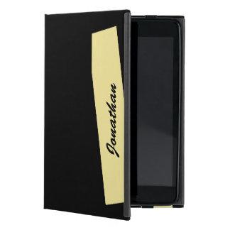 iPad Mini Folio Case, Triple Stripe, Tan & Black iPad Mini Case
