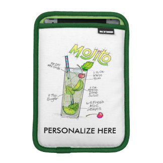 iPAD MINI SLEEVE - MOJITO RECIPE COCKTAIL ART