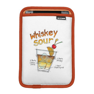 iPad Mini Sleeve, WHISKEY SOUR RECIPE COCKTAIL ART Sleeve For iPad Mini