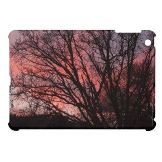 ipad mini: Tree Silhouettes and  Red Sky at Sunset Case For The iPad Mini