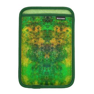 iPad Mini Vertical, Retro Vintage Green Mosaic Sleeve For iPad Mini