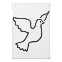 iPad negro de la paloma de la paz