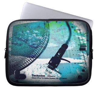 "ipad or 10"", 13"", 15"" laptop case, turntable art computer sleeve"