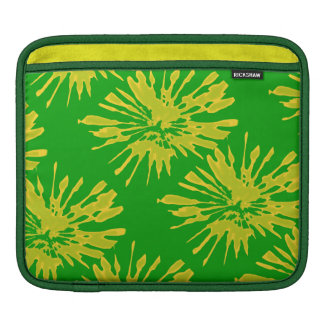 iPad pad Horizontal with Green Yellow Design iPad Sleeves