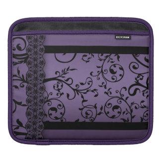 iPad Purple Blend Leaf Scroll Pattern iPad Sleeve