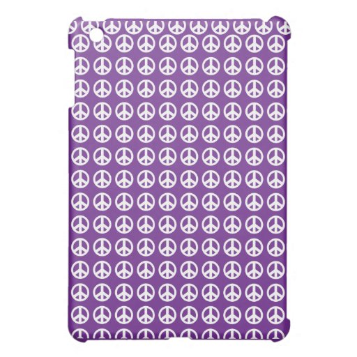 iPad púrpura del signo de la paz mini