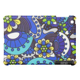 iPad retro azul de las flores