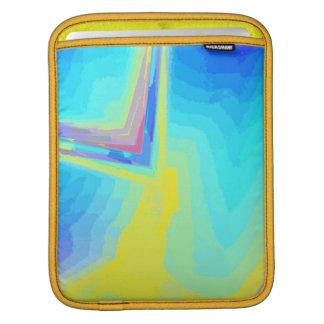 iPad Rickshaw Sleeve in tones Blue and Yellow iPad Sleeve