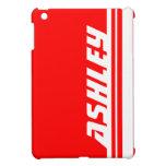 Ipad rojo y blanco conocido del deporte de la raya iPad mini coberturas