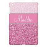 iPad rosado del caso del leopardo BLING del