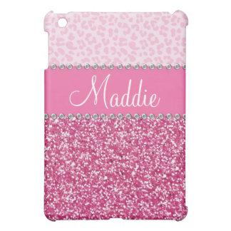 iPad rosado del caso del leopardo BLING del diaman