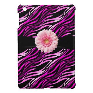 iPad rosado y negro del estampado de zebra y del G iPad Mini Carcasas
