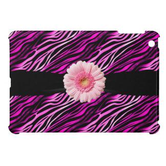 iPad rosado y negro del estampado de zebra y del G iPad Mini Cobertura