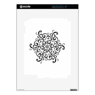 iPad Skin-Black and White Design iPad 2 Decals
