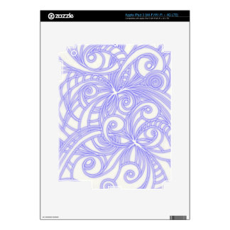 iPad Skin Floral abstract background