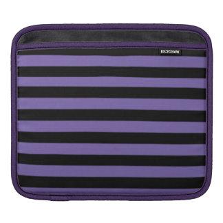 iPad Sleeve - Black and purple strips