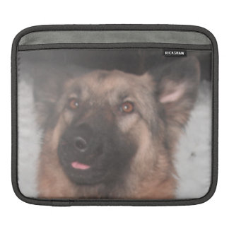 Ipad Sleeve German Shepherd Sticking Tongue Out