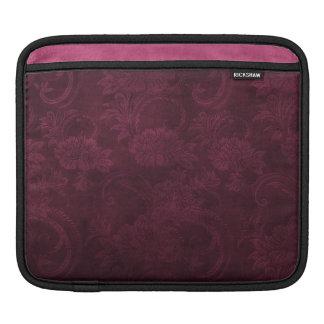iPad Sleeve in Dark Wine Damask Design
