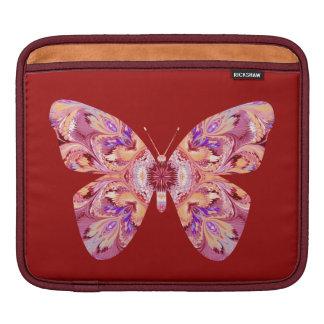 iPad Sleeve Kaleidoscope Butterfly Red Background