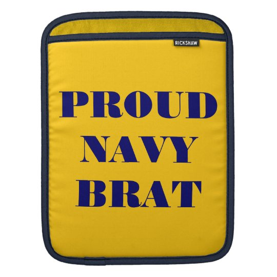 Ipad Sleeve Proud Navy Brat