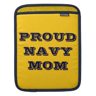 Ipad Sleeve Proud Navy Mom