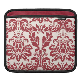 ipad sleeve...red and white damask sleeve for iPads