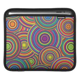 iPad Sleeve Retro Rainbow Circles Pattern