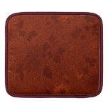 ipad sleeve- Rust Damask Floral Design