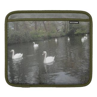 Ipad Sleeve Swans Swimming