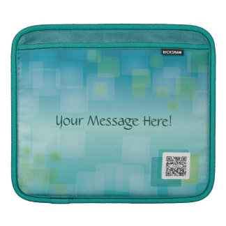iPad Sleeve Template Blue Green Generic