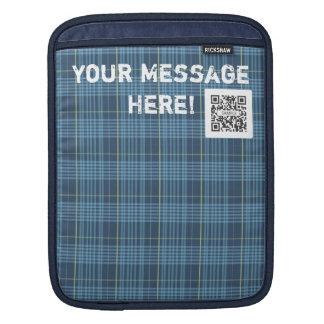 iPad Sleeve Template Blue & Green Plaid