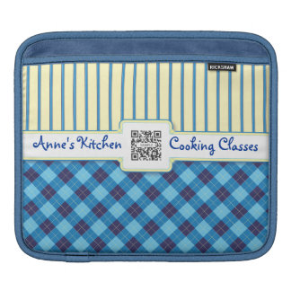 iPad Sleeve Template Blue & Yellow Argyle