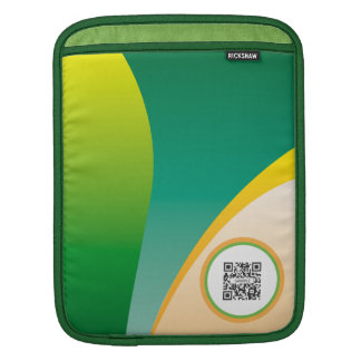 iPad Sleeve Template Generic Green Waves