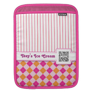 iPad Sleeve Template Pink & Orange Argyle