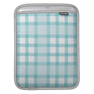iPad Sleeve -  Textured Plaid - Cloud