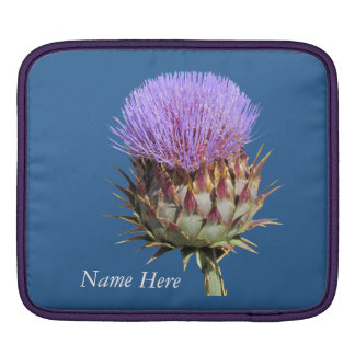 iPad sleeve - Thistle and Name