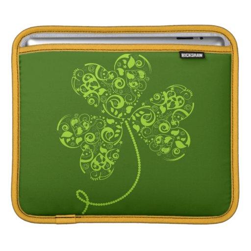 iPad sleeve with decorative trefoil
