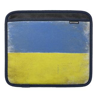iPad Sleeve with Distressed Ukrainian Flag Print