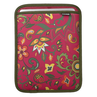 iPad sleeve with floral decorative patterns