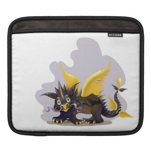 iPad sleeve with funny black dragon picture