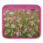 iPad Sleeve with Pink and White Flowers Print
