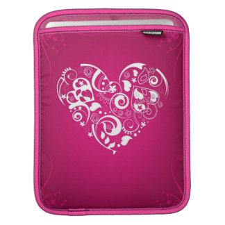 iPad sleeve with red decorative heart
