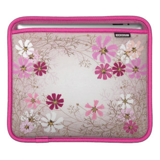 iPad sleeve  with tender floral background.
