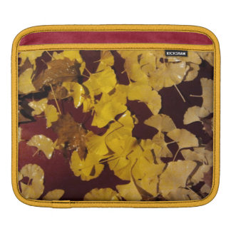 iPad sleeve with yellow leaves
